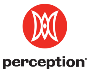 The Perception logo consists of a W and M, for William Masters, interlocking to form a canoe.
